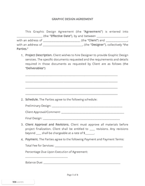 graphic design contract template free download