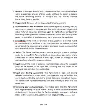Loan agreement template page2 thumb
