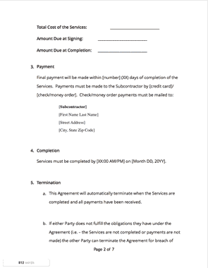 Subcontractor agreement page2 thumb