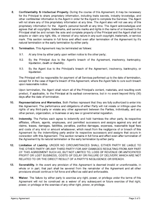 Agency agreement template page 2