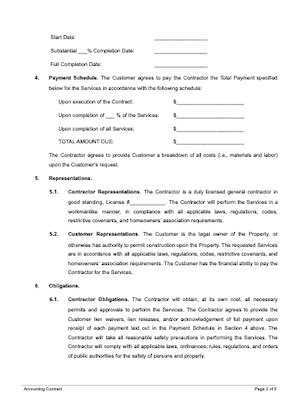 Construction contract page 2