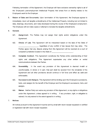 Intellectual property agreement page 2