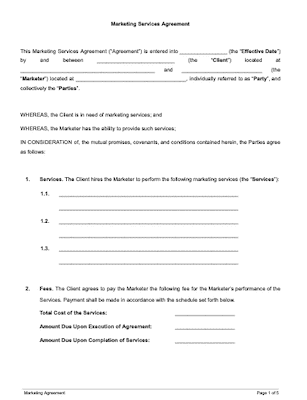 Marketing agreement page1