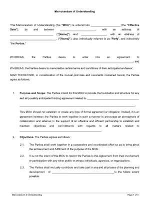 Contract template written Contract Templates