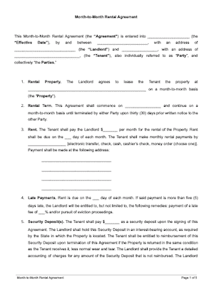 Arizona Lease Termination Letter Template 30 Day Notice