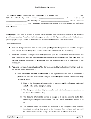 Contract template written Free Contract
